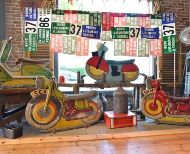 decorative fairground bikes