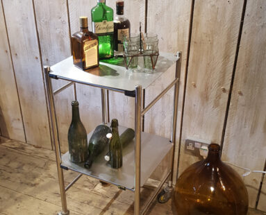 polished trolley storage furniture
