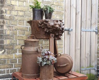 french rustic burr oak chopping block table furniture