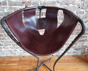 decorative art handmade leather chair footstool sculptural lighting
