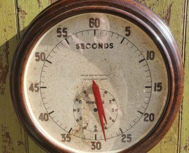1930s english decorative wall clock