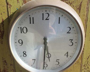 1950s military decorative wall clock