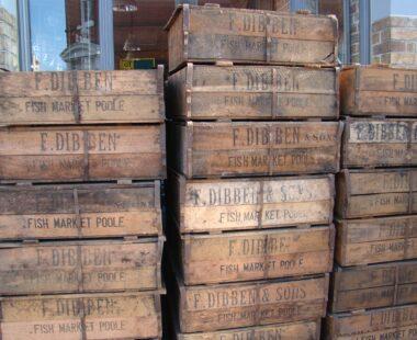 poole fish market decorative wooden box storage homewares