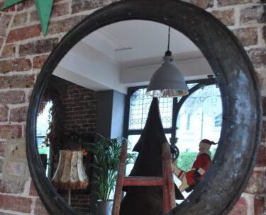 industrial circular wall mirror handcrafted