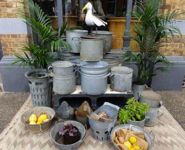 galvanised decorative garden planters homewares