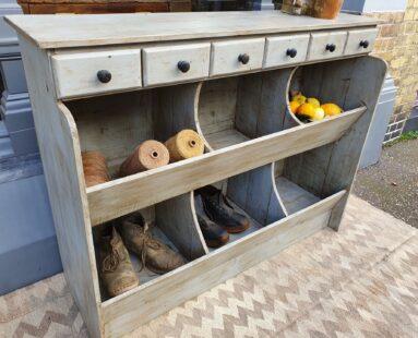 bespoke reclaimed wooden general store cupboard