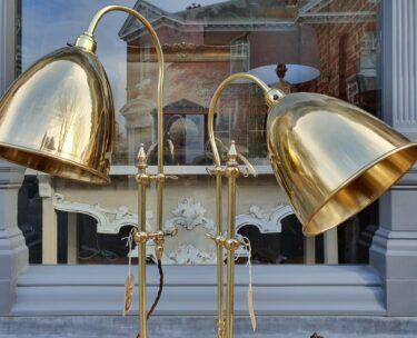 bespoke brass table lighting
