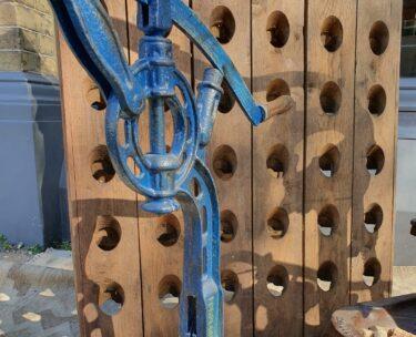 vintage french cast iron bottle corker decorative