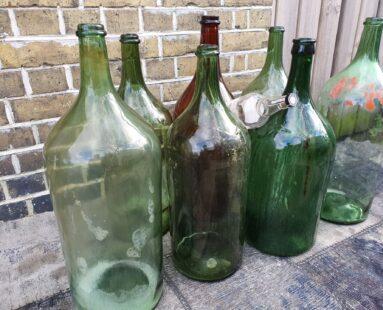 Italian handblown glass wine bottles decorative homewares