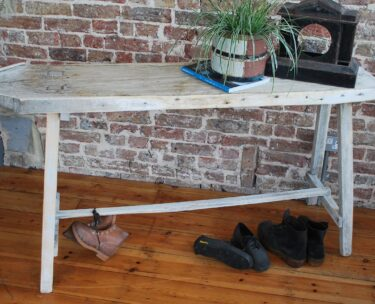 french rustic painted wooden laundry wash table furniture