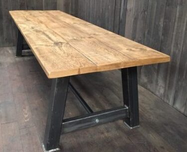 bespoke industrial style dining table