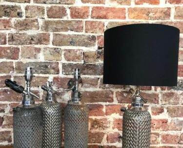 bespoke Sparklets soda syphon lighting