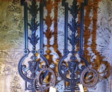 victorian iron balustrade table lamp lighting