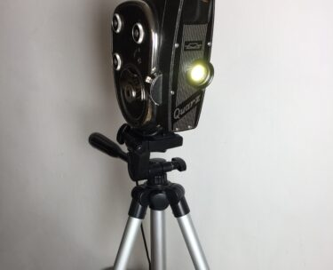 1960's zoom quarz cine camera tripod lamp lighting