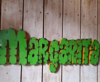 handmade metal margarita wall sign decorative art