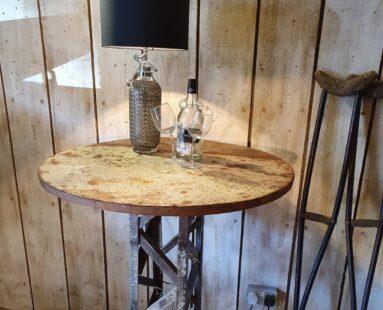 french vintage metal poseur table furniture