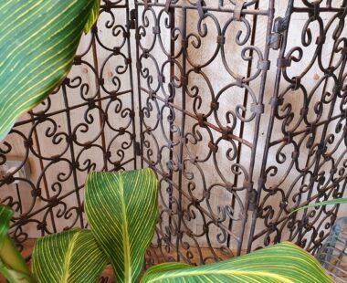 French vintage iron 3 panel screen garden decorative homewares