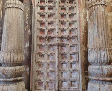 antique panelled hardwood doors decorative artefacts homewares