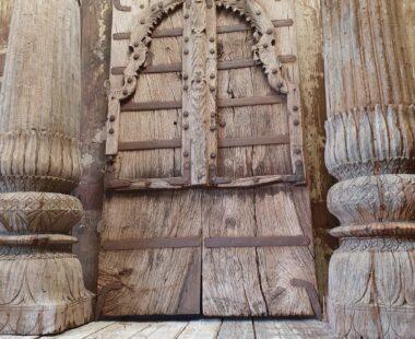 arch top wooden reclaimed indian doors decorative artefacts homewares art