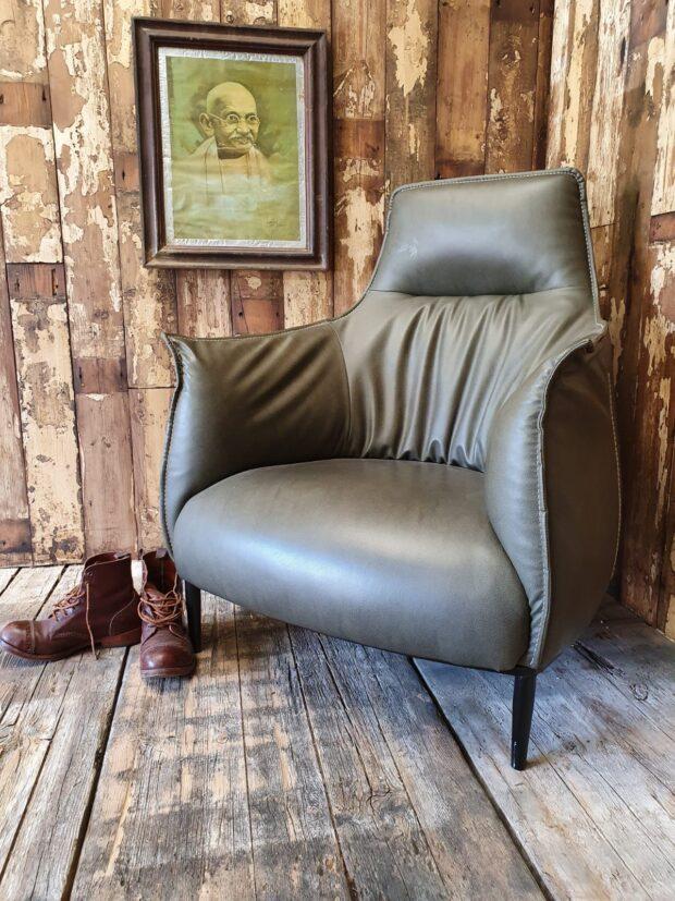 faux leather armchair poltrona frau style archibald seating armchair