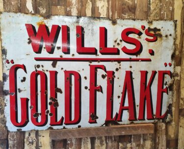 enamel gold flake sign decorative art homewares
