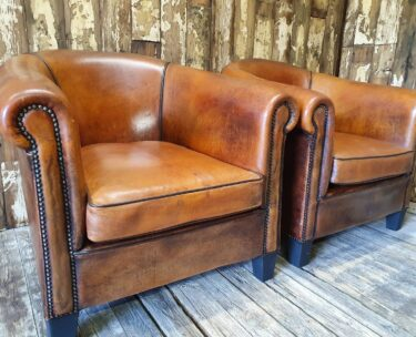 vintage lambs leather club chairs seating armchairs