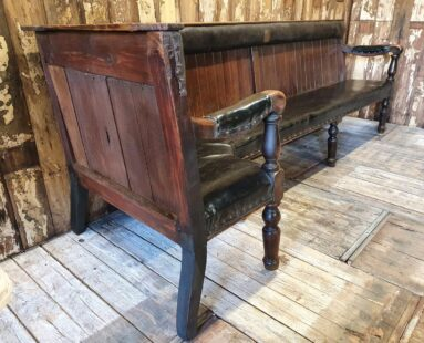 vintage leather banquette bench occasional seating