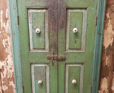 painted green window mirror with shutters mirrors garden