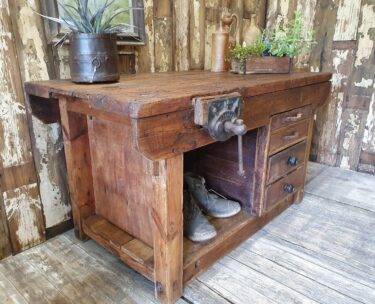 rustic wooden kitchen island workbench furniture tables