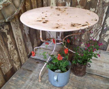 round metal bistro table garden furniture tables