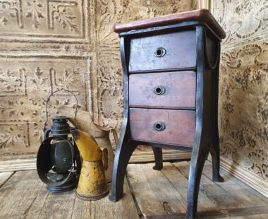 bespoke cabinet cast iron industrial legs and three wooden drawers furniture drawers
