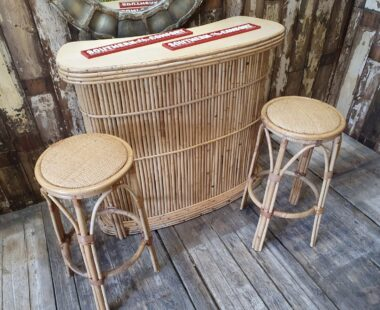 bamboo tiki bar and stools furniture tables storage homewares garden