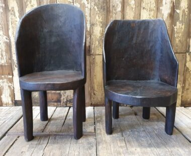 hand carved tree trunk wooden seating occasional chairs