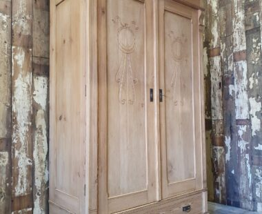 double pine knock down French wardrobe furniture cupboards & cabinets